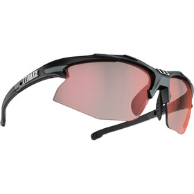 Bliz Hybrid M18 Brille Ultra Lens Science, matt black/photochromic brown w red multi